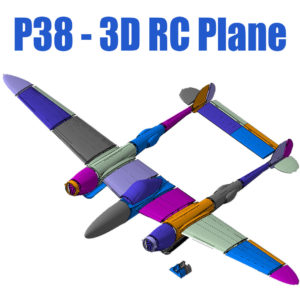 P38 3D Printable RC Plane