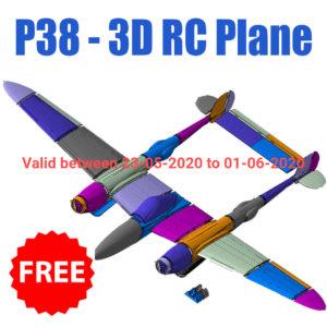 P38 3D Printable RC Plane Free