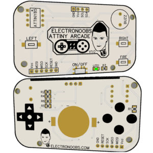ATtiny85 Game Console PCB (GERBERs)